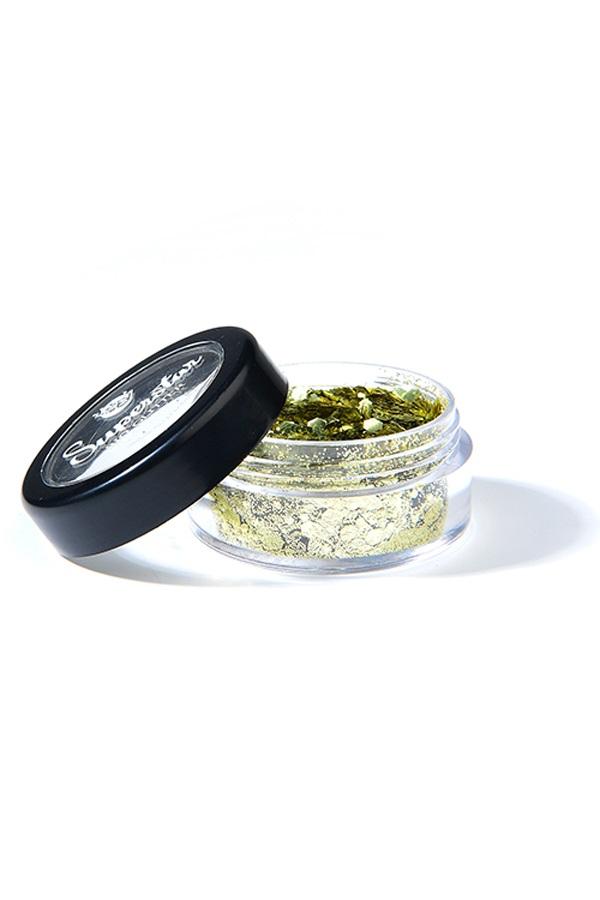 Chunky mix  Biodegradable face & bodyglitter 6 ml Gold 1