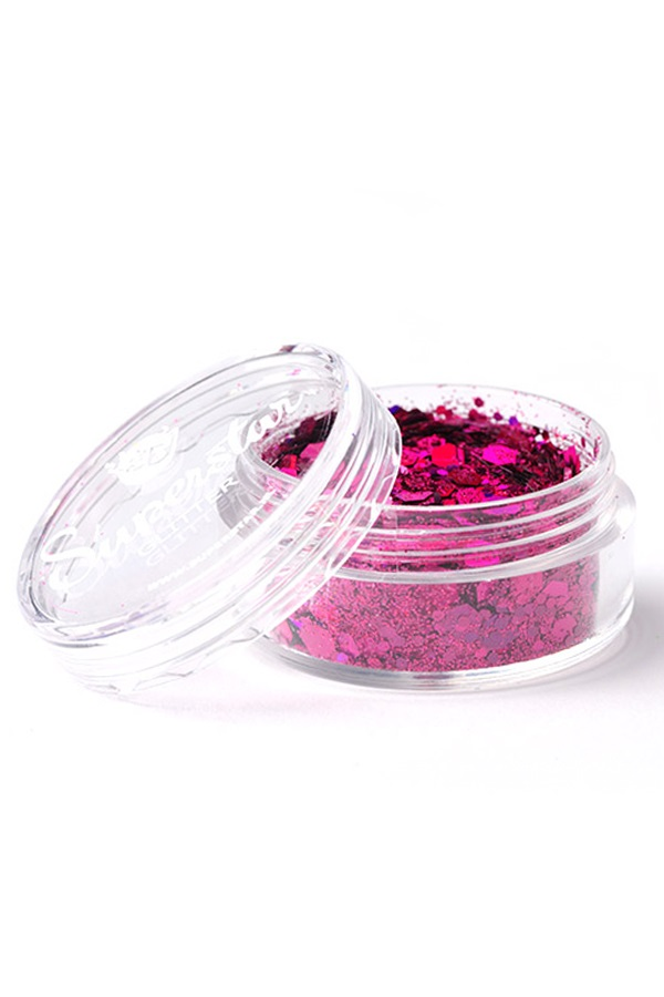 Chunky Glitter 8 ml Superstar Laser Pink 1