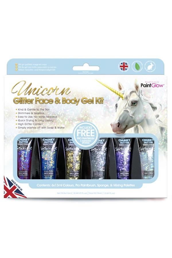 Box Unicorn Chunky Glitters Face & Body Gel 1