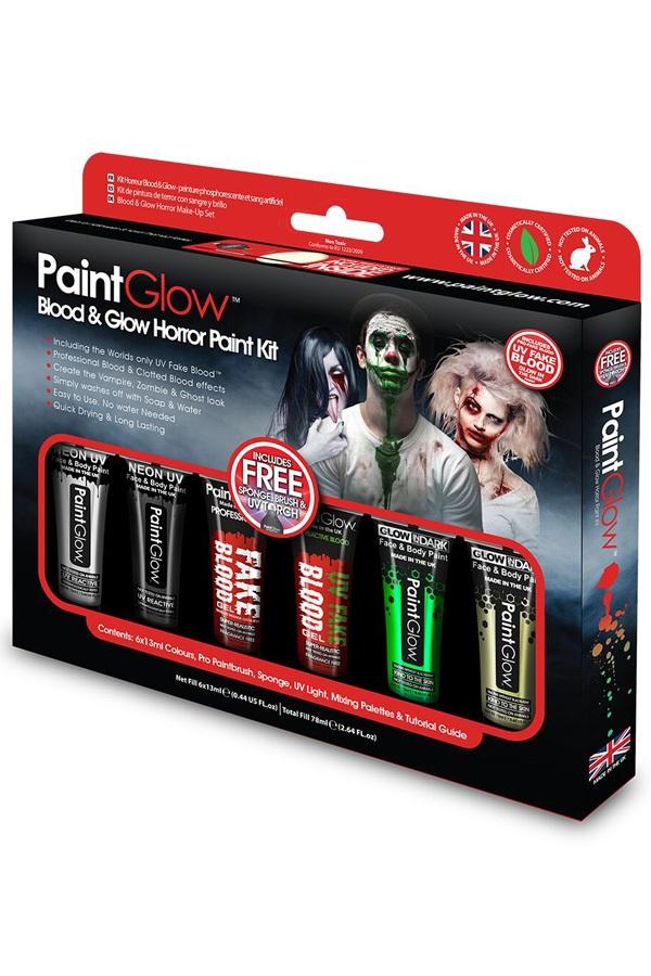 Box Face & Body paint Blood & Glow Horror 1
