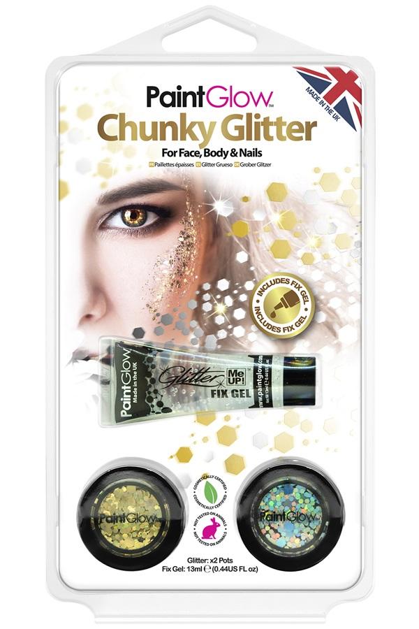 Blister set chunky glitters Sparkle Gold/Silver 1