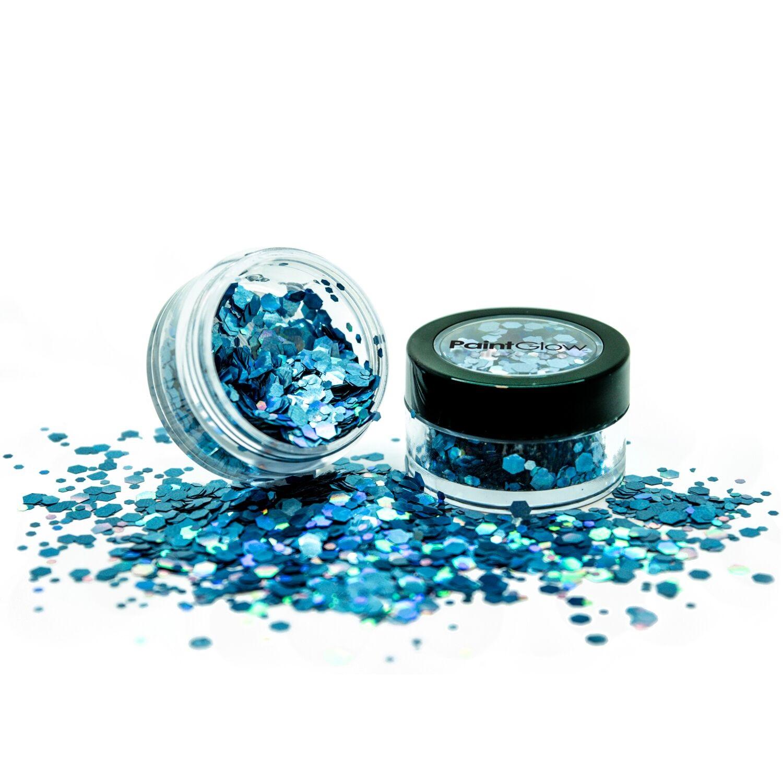Holografische chunky glitters 3 gram Cosmic Blue 1