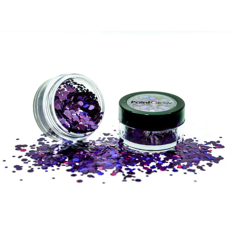 Holografische chunky glitters 3 gram Purple Fury 1