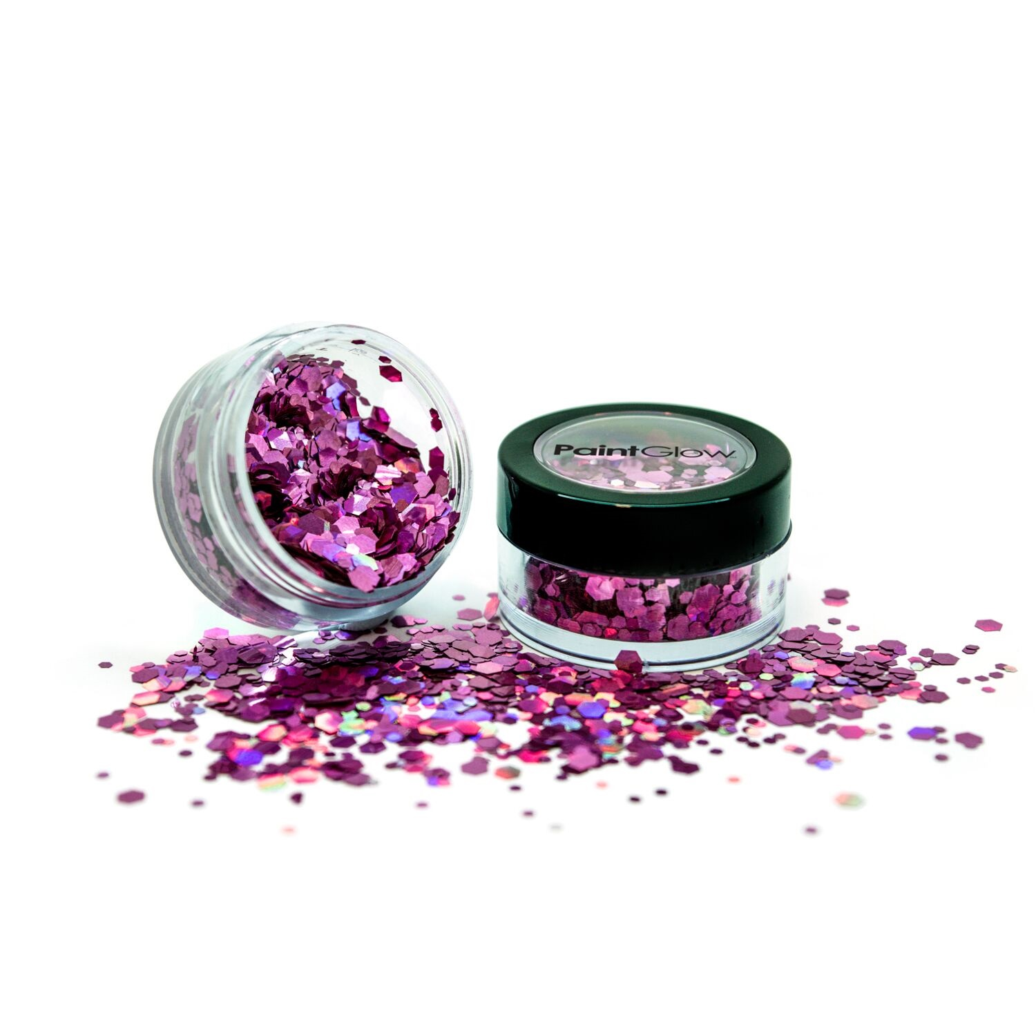 Holografische chunky glitters 3 gram Princess Pink 1