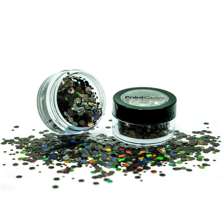 Holografische chunky glitters 3 gram Black Star 1