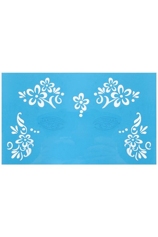 PXP aqua face & body paint template flower dots 1