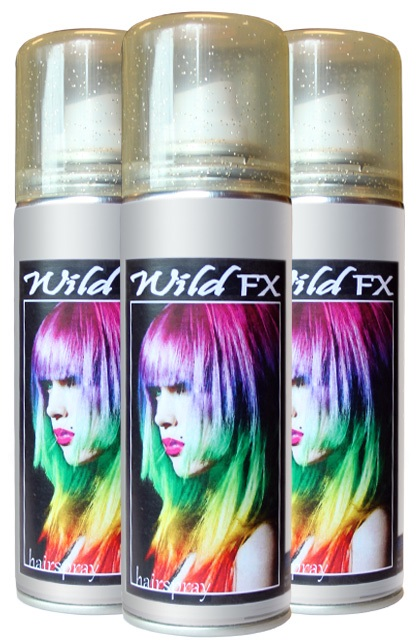 Haarspray colour/fluor/glitter- display 125 ml  1