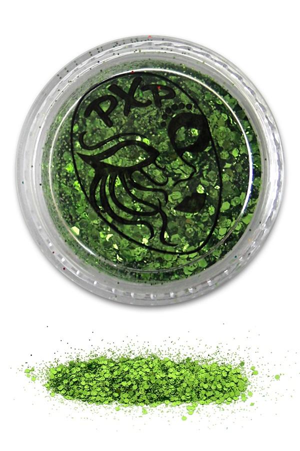 PXP Glitter Tropical Green Fijne glitter  1