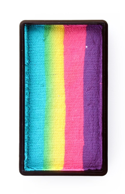 PXP 28 gram splitcake block kPurple | pink | yellow | turquoise 1
