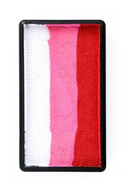 PXP 28 gram splitcake block lRed | pink | white 1