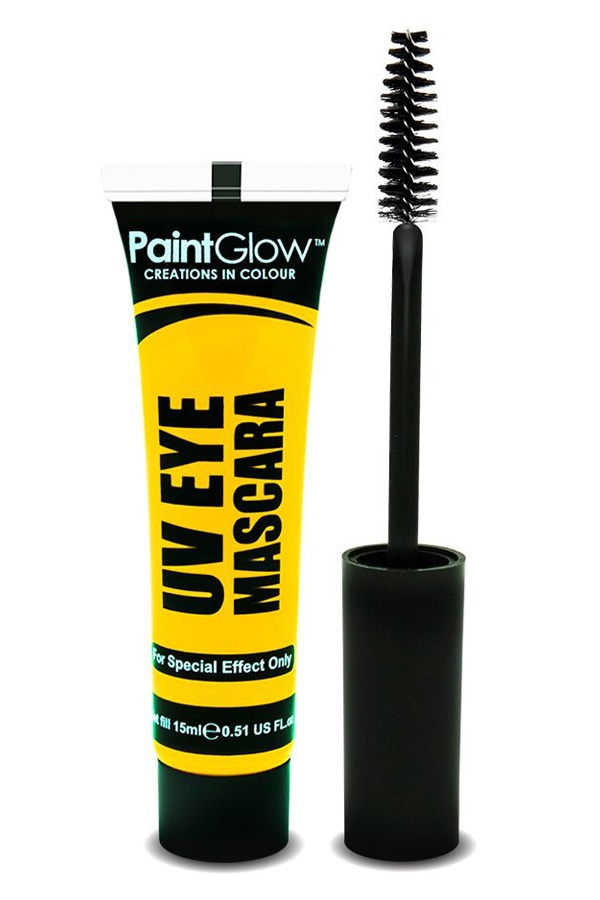 Neon UV eye mascara geel 1