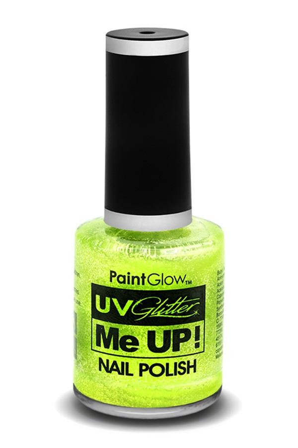 Glitter nagellak neon UV groen 1