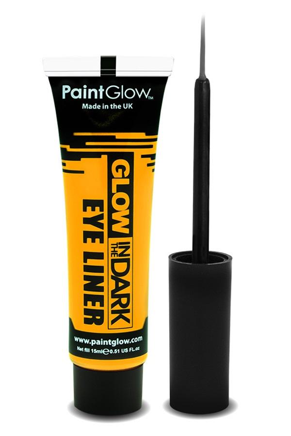 Glow in the dark eyeliner UV neon geel 1