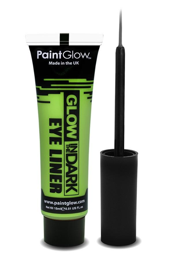 Glow in the dark eyeliner UV neon groen 1