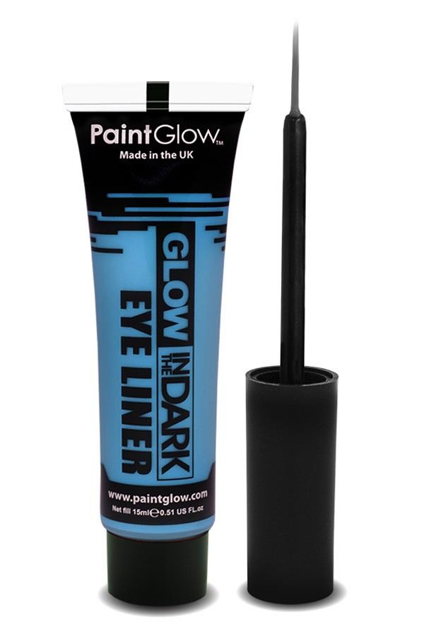 Glow in the dark eyeliner UV neon blauw 1