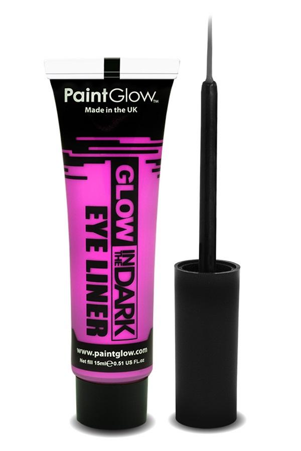 Glow in the dark eyeliner UV neon pink 1