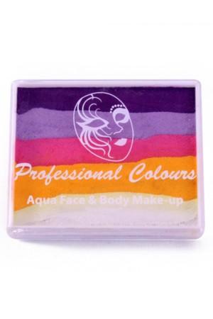 PXP 50 gram splitcake Violet   Lavender   Pink   Yellow   White