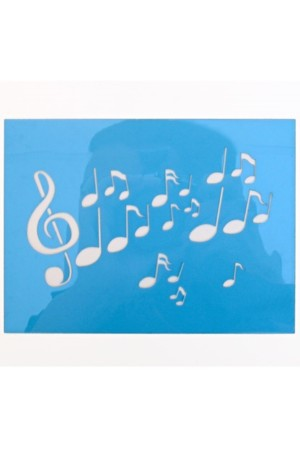 PXP schminksjabloon 12x16 cm muzieknoten