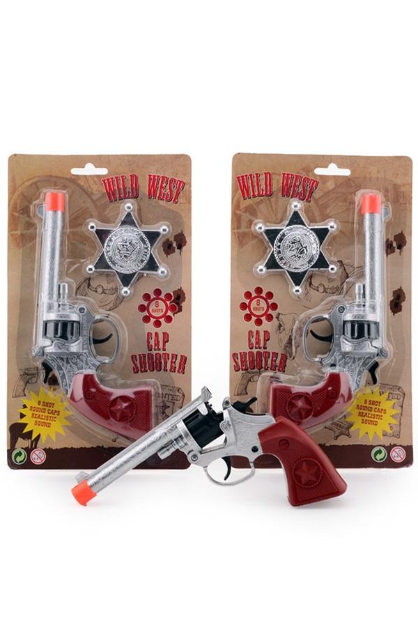 Revolver met badge 8 schots Wild West 1