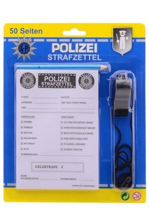 Polizei strafzettel mit Bleistift flöte