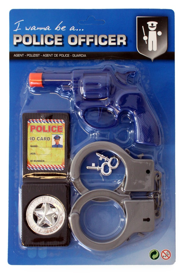 Politie set mini 3-delig