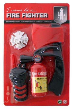 Brandweer set mini 4-delig assorti