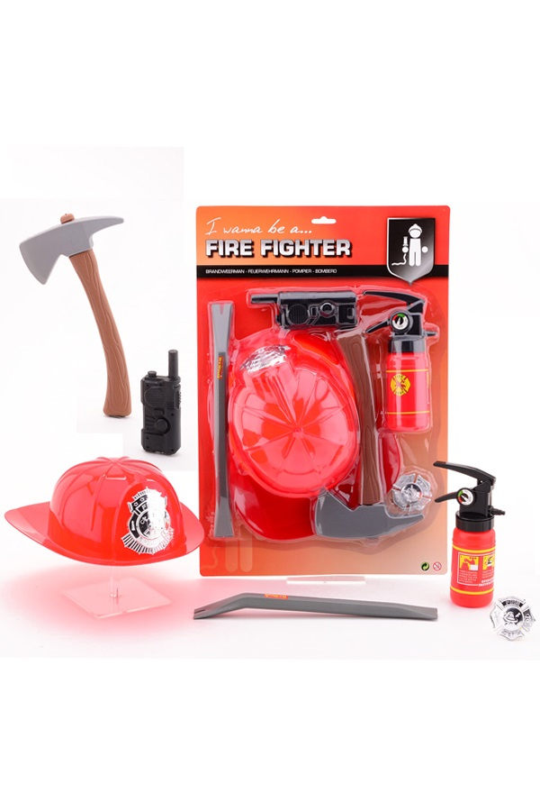 Brandweer speelset 6-delig 1