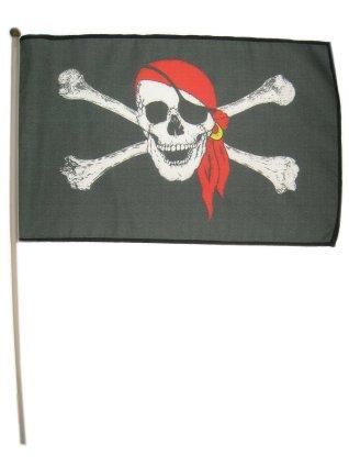 Piratenvlag aan stokje 1