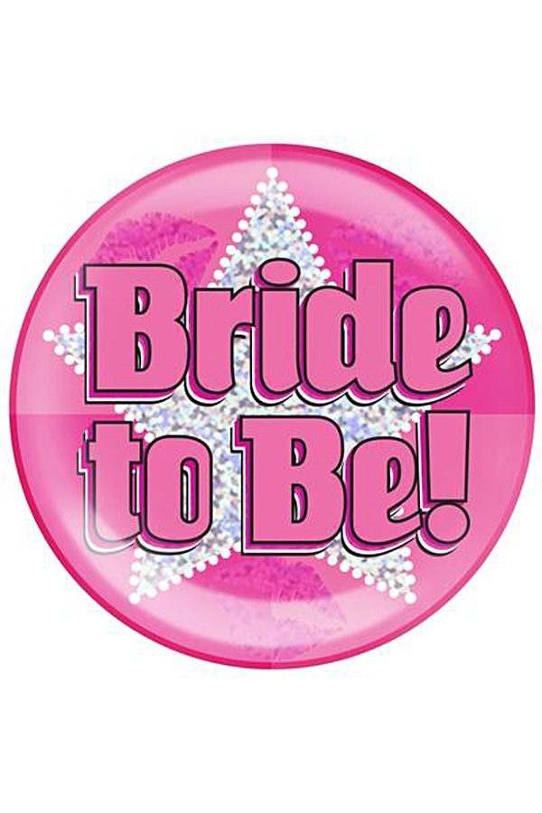 Button bride to be roze 1