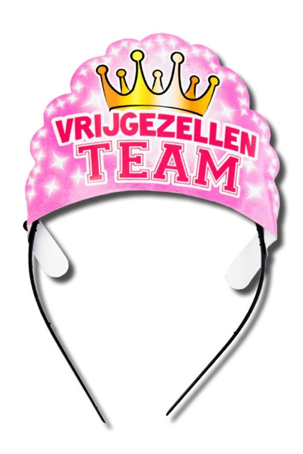 Diadeem vrijgezellen team dames 1