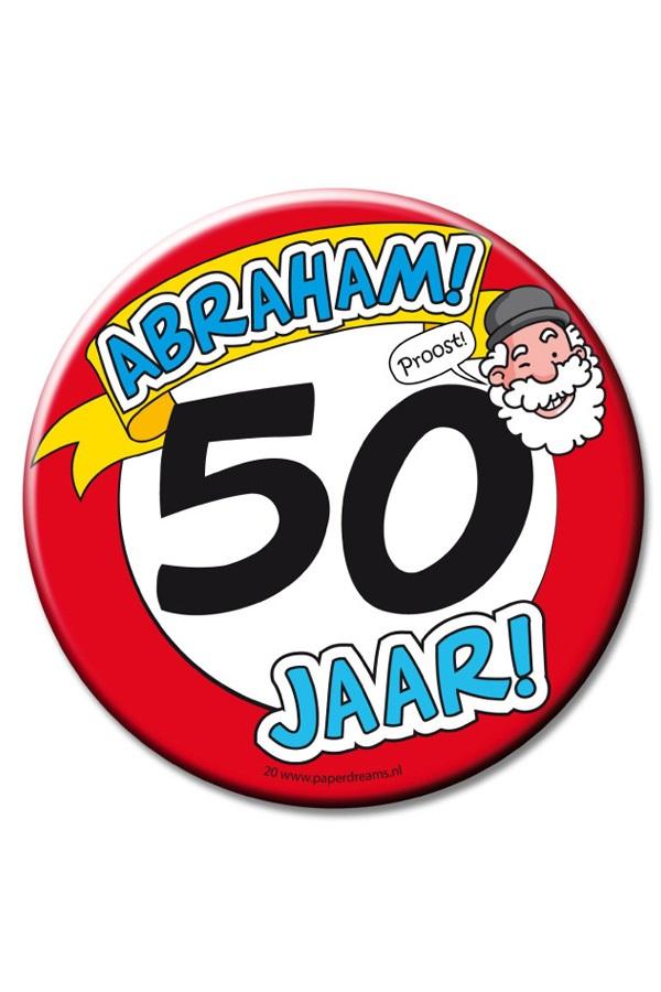 XL Button 50 abraham Ø10 cm