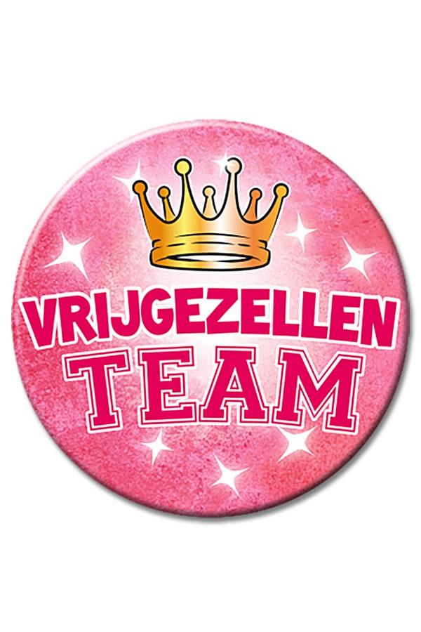 XL Button Vrijgezellen team vrouw Ø 10 cm