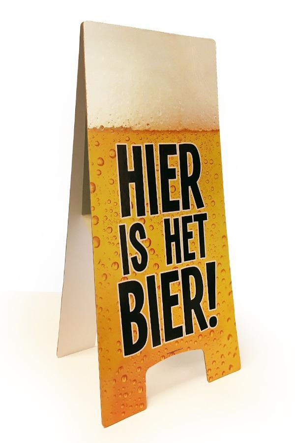 Waarschuwingsbord hier is het bier 58 x 23 cm