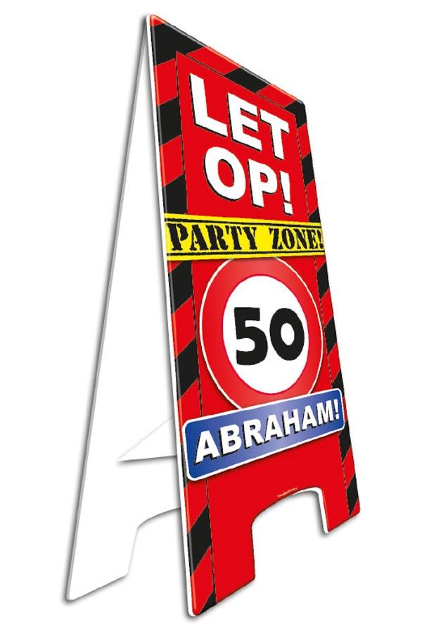 Waarschuwingsbord 50 abraham 23 x 58 cm