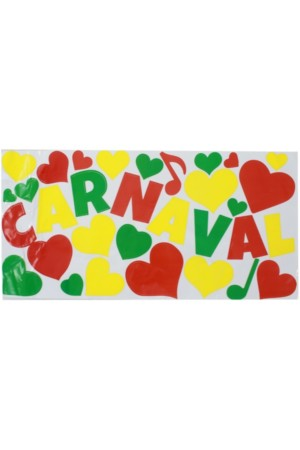 Adhesive Carnaval mix rood/geel/groen 30x60cm