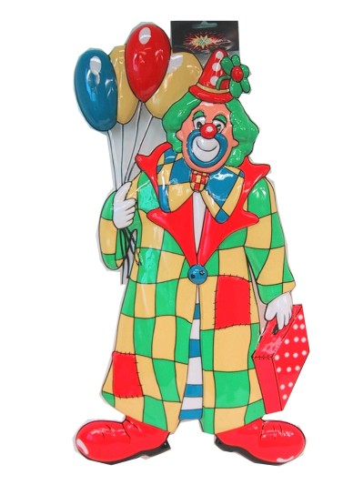 Clowndeco met ballonnen 60 cm