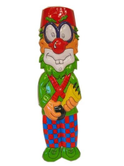 Clownsdeco met toeter 40 cm