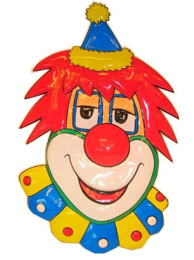 Clownsdeco met rood haar 70 cm