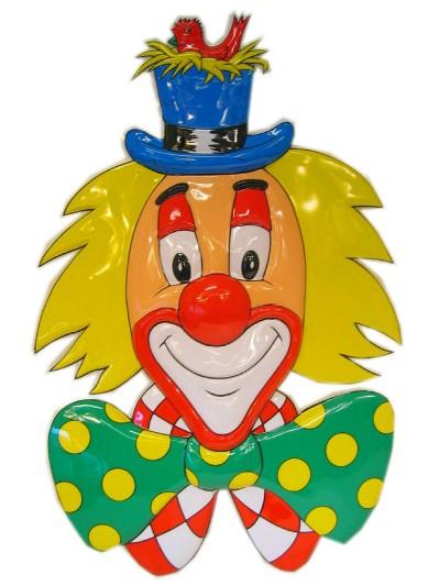 Clownsdeco met hoed 70 cm