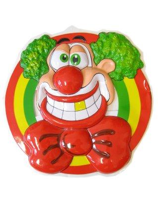 Wanddeco clownshoofd lachend 50 x 50 cm