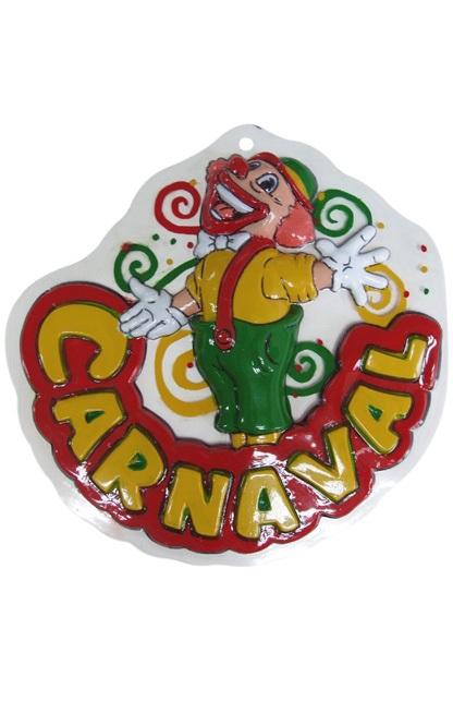 Wanddeco clown carnaval 18×18 cm  1