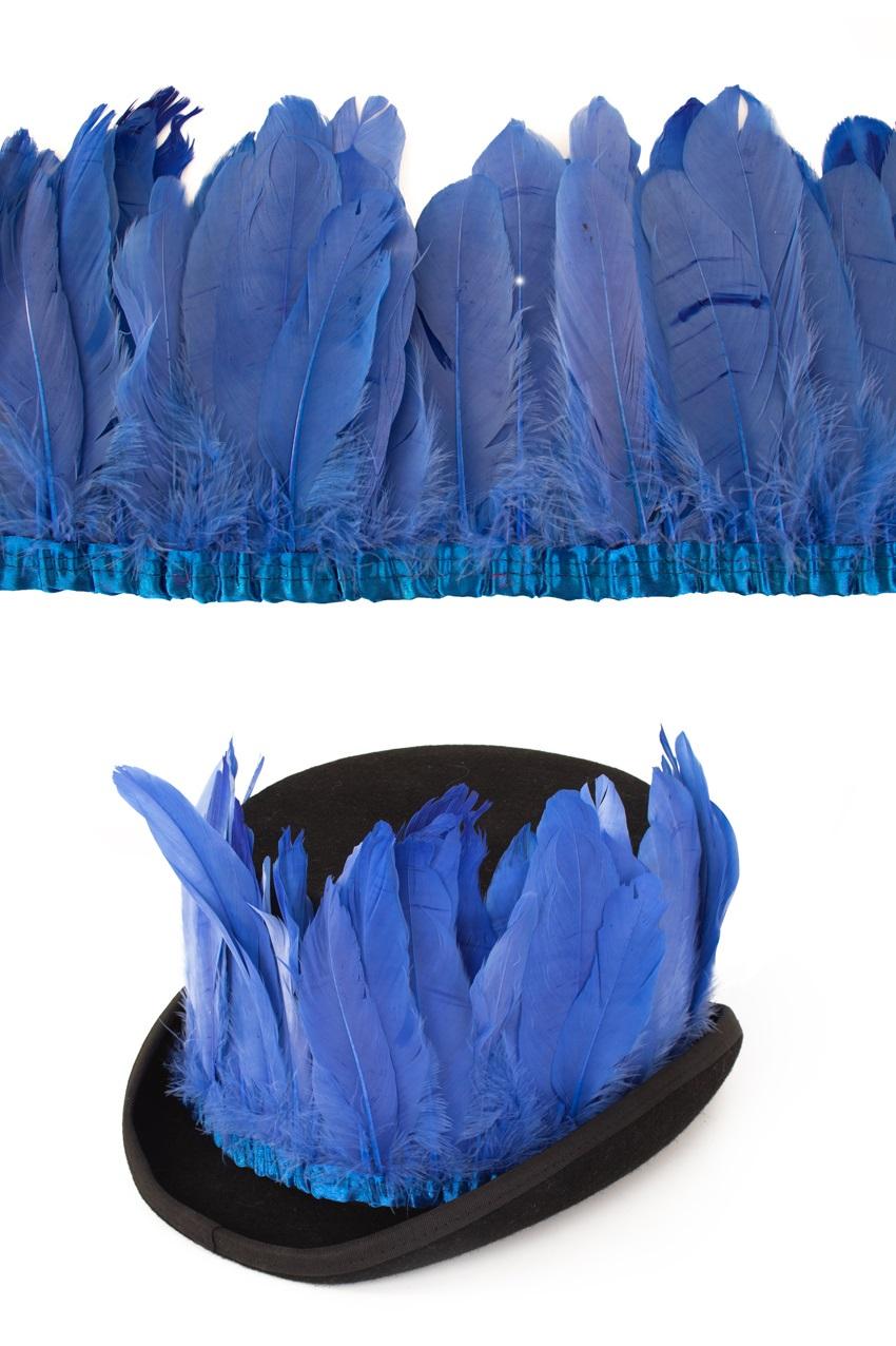 Ganzenveer op band blauw 3m 1