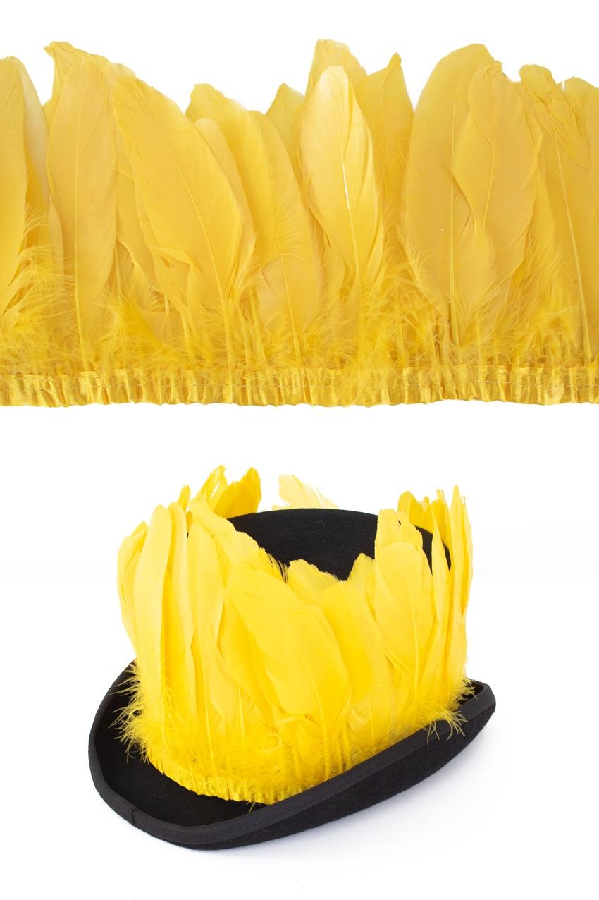 Ganzenveer op band geel 3m 1