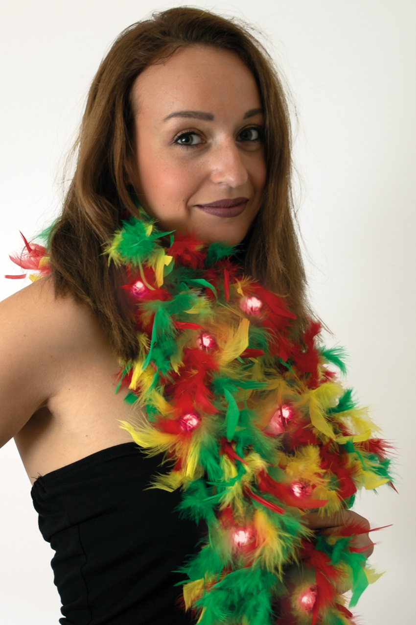 Boa rood/geel/groen met licht 180 cm. 50 gr