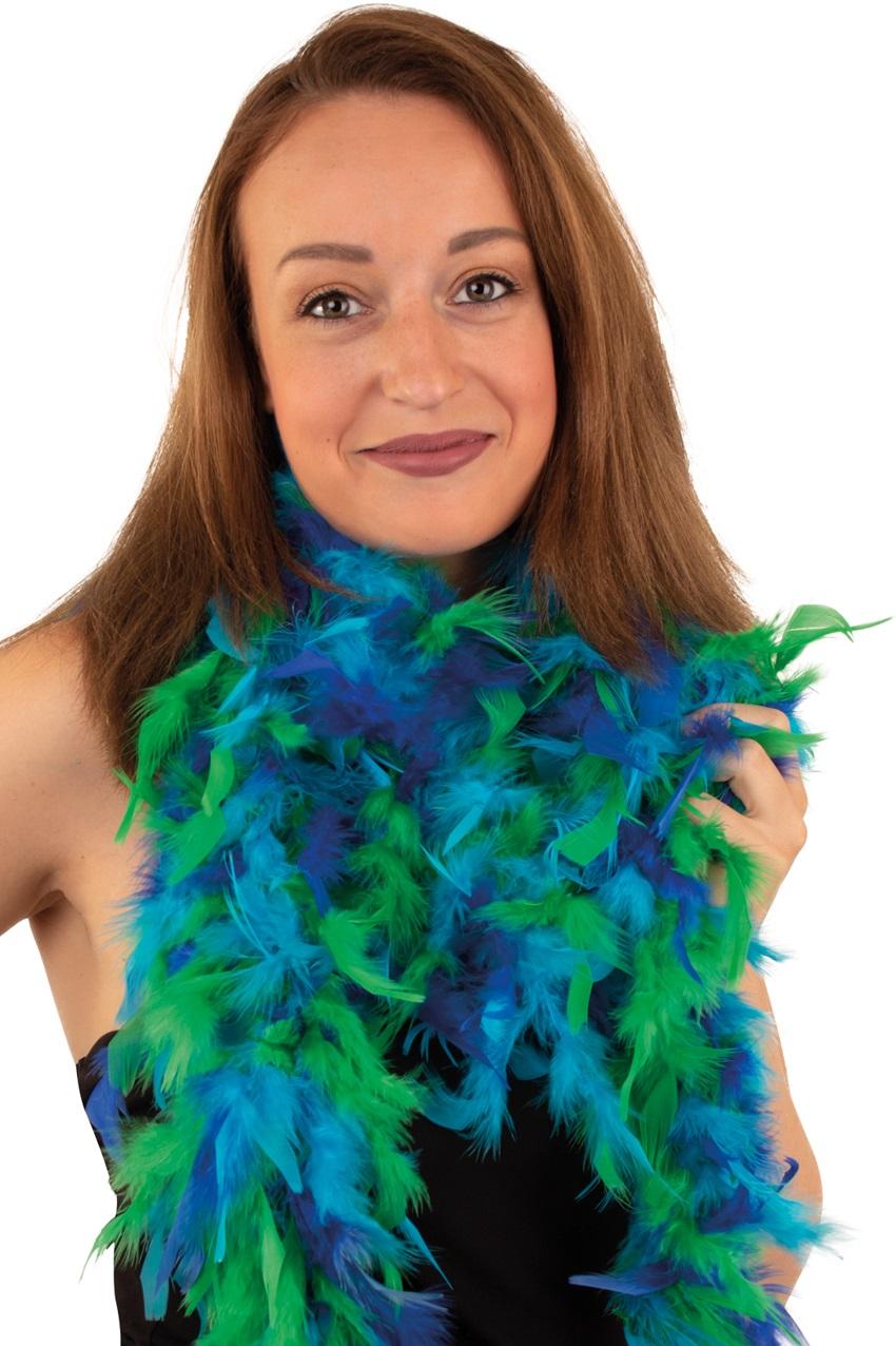 Boa donkerblauw/ licht blauw/ groen 180 cm. 50 gr.