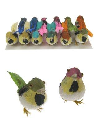 Decoratie vogeltjes assortie 6cm 1