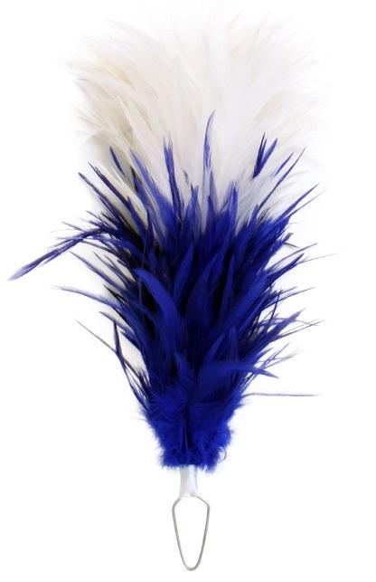 Veren pluim wit/blauw boa 35cm 1