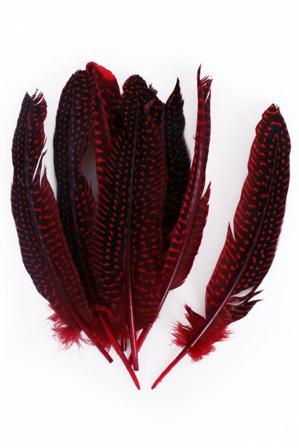 Veren parelhoen 15/20 cm 10 stuks rood 1