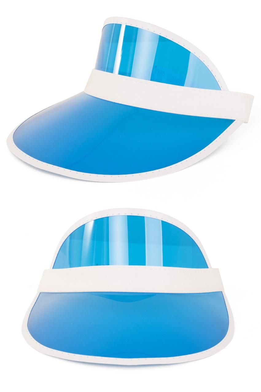 Zonneklep blauw 1