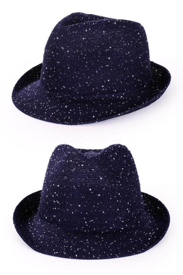 Saturday night fever glitter hoed blauw 1